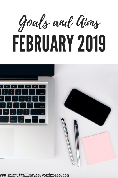 laptop journal blog goals February 2019 lists aims